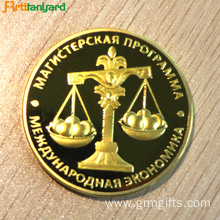 Custom Gold Proof Coin With 2D Design